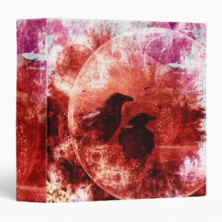 """Diseño rojo bonito de la fantasía del cuervo del carpeta 1 1/2"""""""