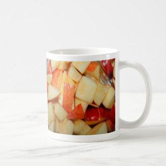 diseño rojo cortado de la comida de la manzana de taza de café