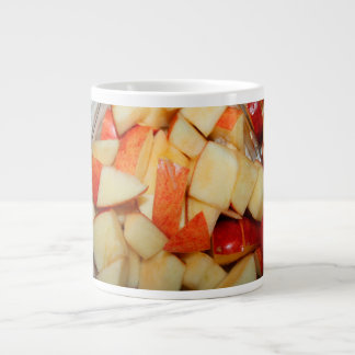 diseño rojo cortado de la comida de la manzana de taza jumbo