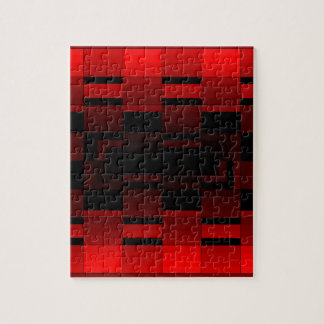 Diseño rojo CricketDiane de la ilusión óptica Rompecabezas Con Fotos