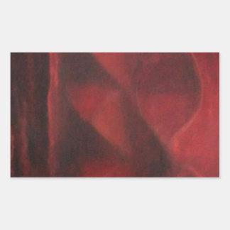 Diseño rojo de Arche por la pintura del dica de Pegatina Rectangular
