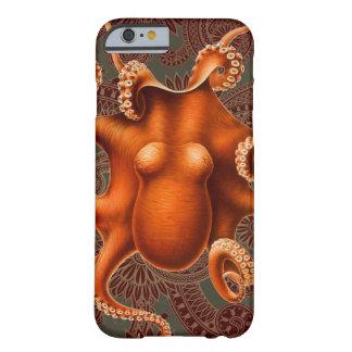 Diseño rojo de Kraken del vintage del cefalópodo