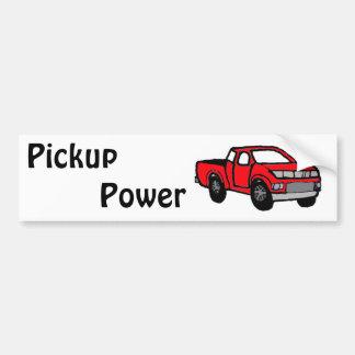 Diseño rojo de la camioneta pickup de la diversión pegatina para auto