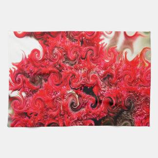 Diseño rojo de la espuma toallas de cocina