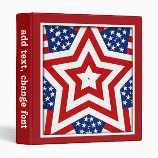 Diseño rojo de la estrella blanca y azul para añad