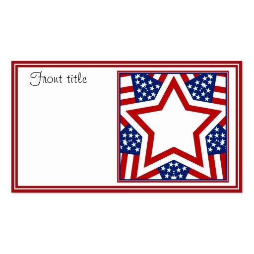 Diseño rojo de la estrella blanca y azul para añad plantillas de tarjeta de negocio