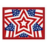 Diseño rojo de la estrella blanca y azul para añad postales