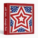 """Diseño rojo de la estrella blanca y azul para carpeta 1"""""""