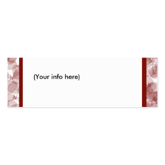 Diseño rojo de la hoja tarjetas de visita mini