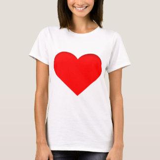 Diseño rojo de la impresión del corazón playera