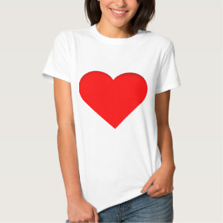 Diseño rojo de la impresión del corazón poleras