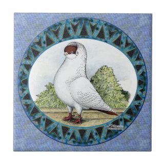 Diseño rojo de la paloma del casco azulejos