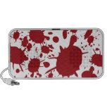 Diseño rojo de la salpicadura de la sangre iPod altavoz