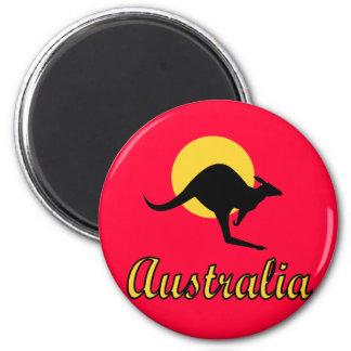 Diseño rojo de la tierra de Australia Iman De Frigorífico