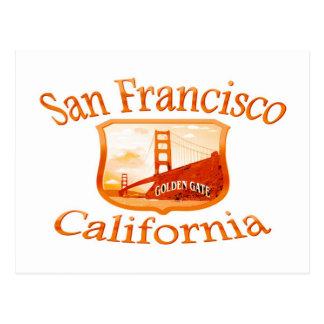 Diseño rojo de San Francisco California Postales