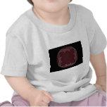Diseño rojo del arte del fractal de la cinta camiseta