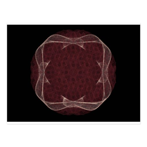 Diseño rojo del arte del fractal de la cinta postal
