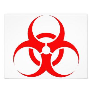 ¡Diseño rojo del Biohazard Comunicado