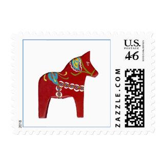 Diseño rojo del caballo de Dala # sello 14
