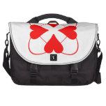 Diseño rojo del corazón bolsas de portátil