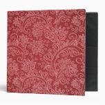 Diseño rojo del damasco de Paisley del vintage