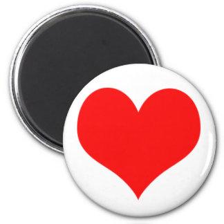 Diseño rojo del día de San Valentín del corazón Imán Redondo 5 Cm