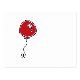 Diseño rojo del dibujo animado del globo