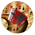 Diseño rojo del extracto del acordeón relojes