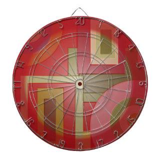 Diseño rojo del extracto del cuadrado del círculo