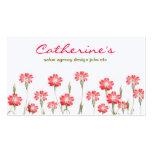 diseño rojo del jardín de flores plantillas de tarjetas personales