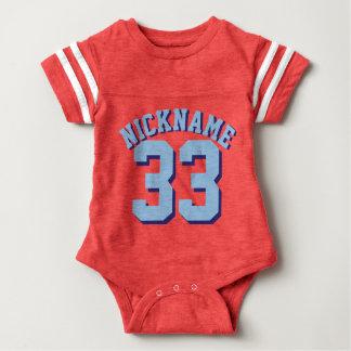 Diseño rojo del jersey de los deportes del bebé