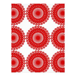Diseño rojo del modelo del cordón plantilla de membrete