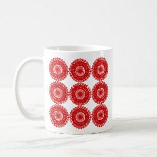 Diseño rojo del modelo del cordón tazas