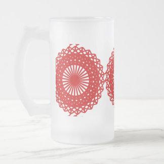 Diseño rojo del modelo del cordón tazas de café