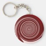 Diseño rojo del remolino de la pintura llaveros