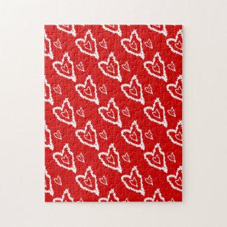 Diseño rojo fresco del corazón del wicket puzzle