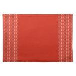 diseño rojo lindo del modelo mantel individual