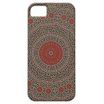 Diseño rojo/marrón del arte iPhone 5 carcasa