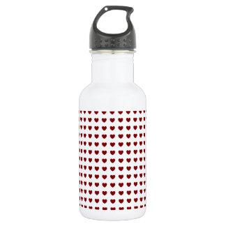 Diseño rojo minúsculo de los corazones botella de agua de acero inoxidable