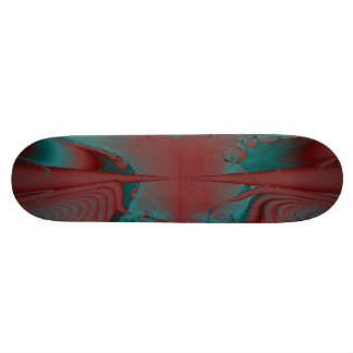 Diseño rojo oscuro, del trullo y de la turquesa de patin