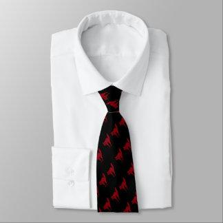 diseño rojo sangre fantasmagórico de la diversión corbatas