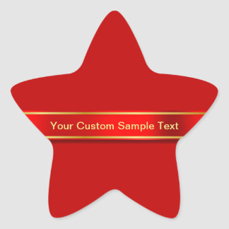 Diseño rojo sedoso de la cinta pegatina en forma de estrella