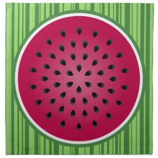 Diseño rojo verde de la sandía servilletas de papel