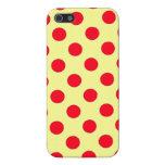 Diseño rojo y amarillo de los lunares iPhone 5 carcasas