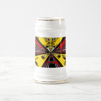 Diseño rojo y amarillo moderno fresco del semicírc taza