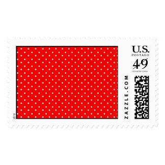 Diseño rojo y blanco de la amapola de los lunares sello