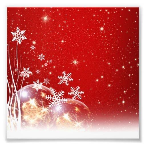 Diseño rojo y blanco de la chuchería del navidad d fotografia
