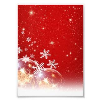 Diseño rojo y blanco de la chuchería del navidad d arte fotográfico