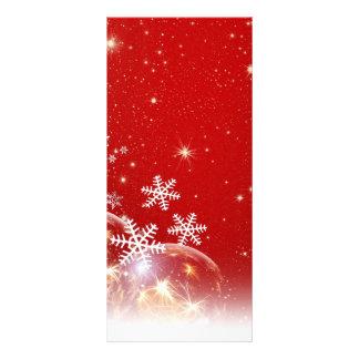 Diseño rojo y blanco de la chuchería del navidad d lona personalizada