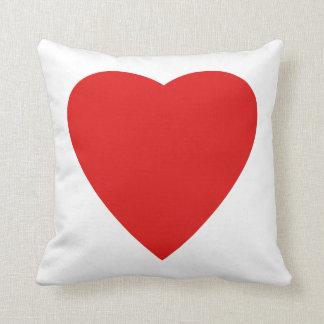 Diseño rojo y blanco del corazón del amor cojin